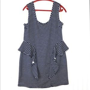 Roommates Stripe Ruffle sheath Dress 3X